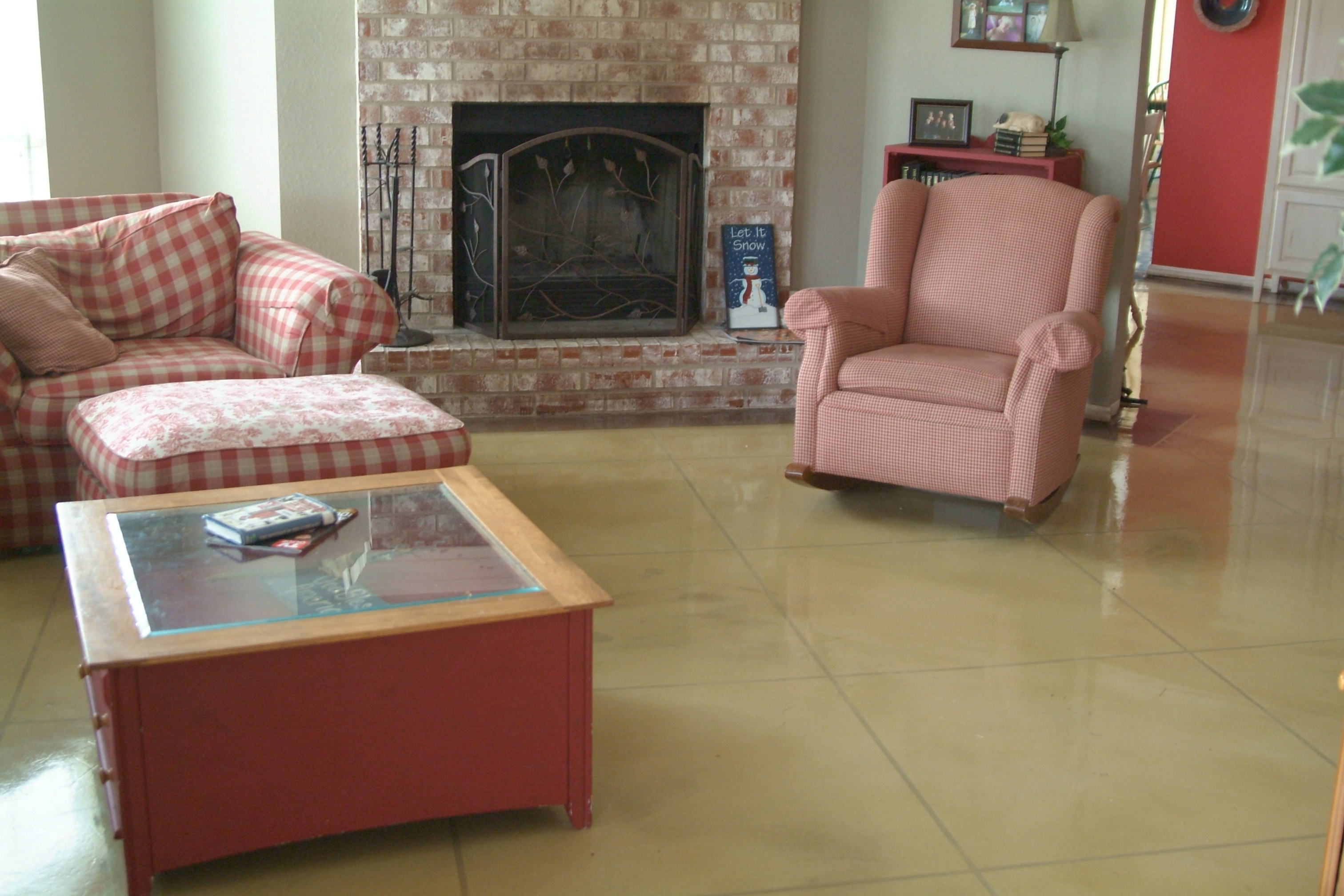 Residential interior flooring gallery centric concrete epoxy - Interior concrete floor resurfacing ...