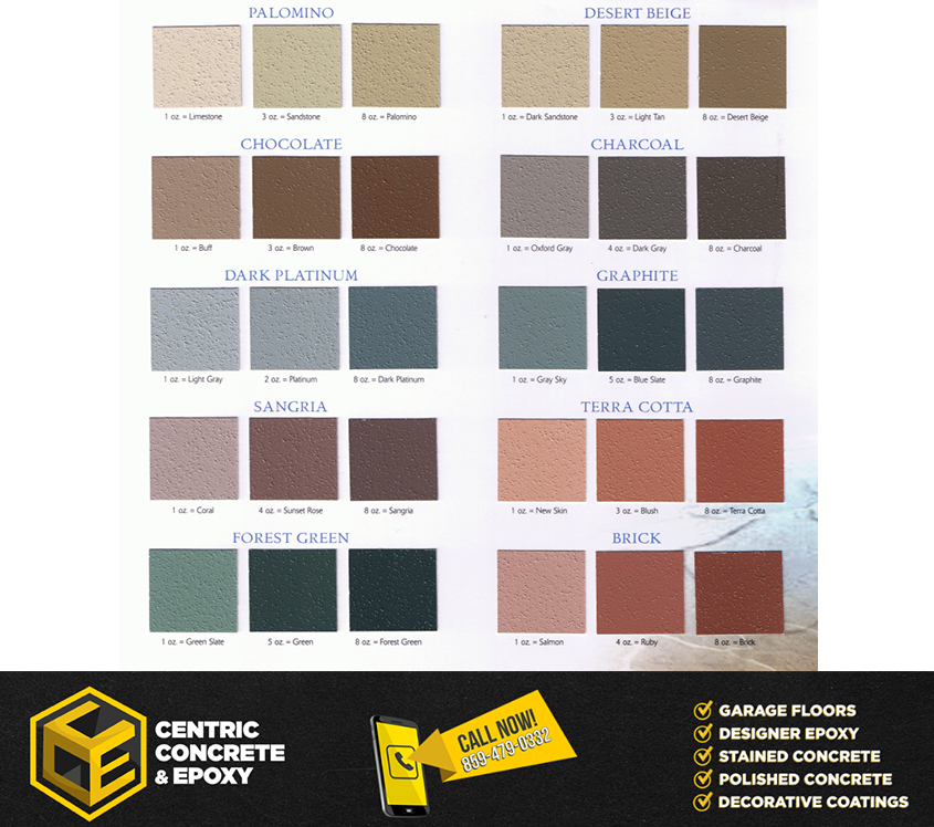 Color Ideas  Epoxy  Concrete